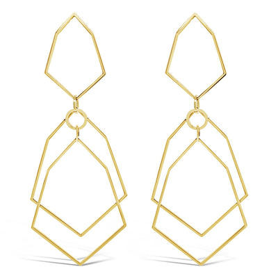 Corbett Geometric Hoop Earrings