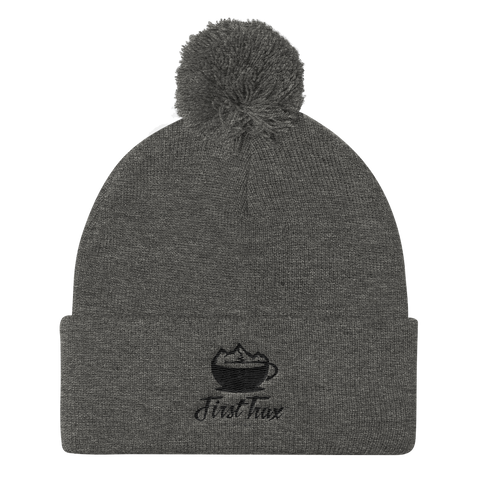 First Trax Coffee Pom Pom Knit Beanie