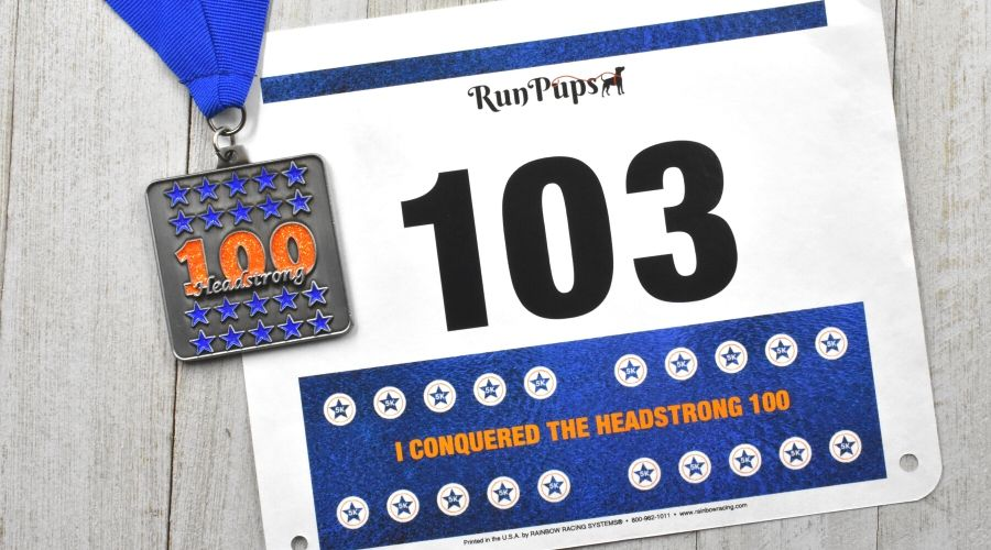 Virtual Run with Medal and race bib