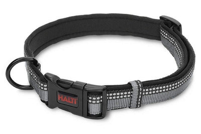 Black and Gray Halti Dog Collar