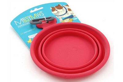 Messy Mutts Collapsible Dog Bowl-Red