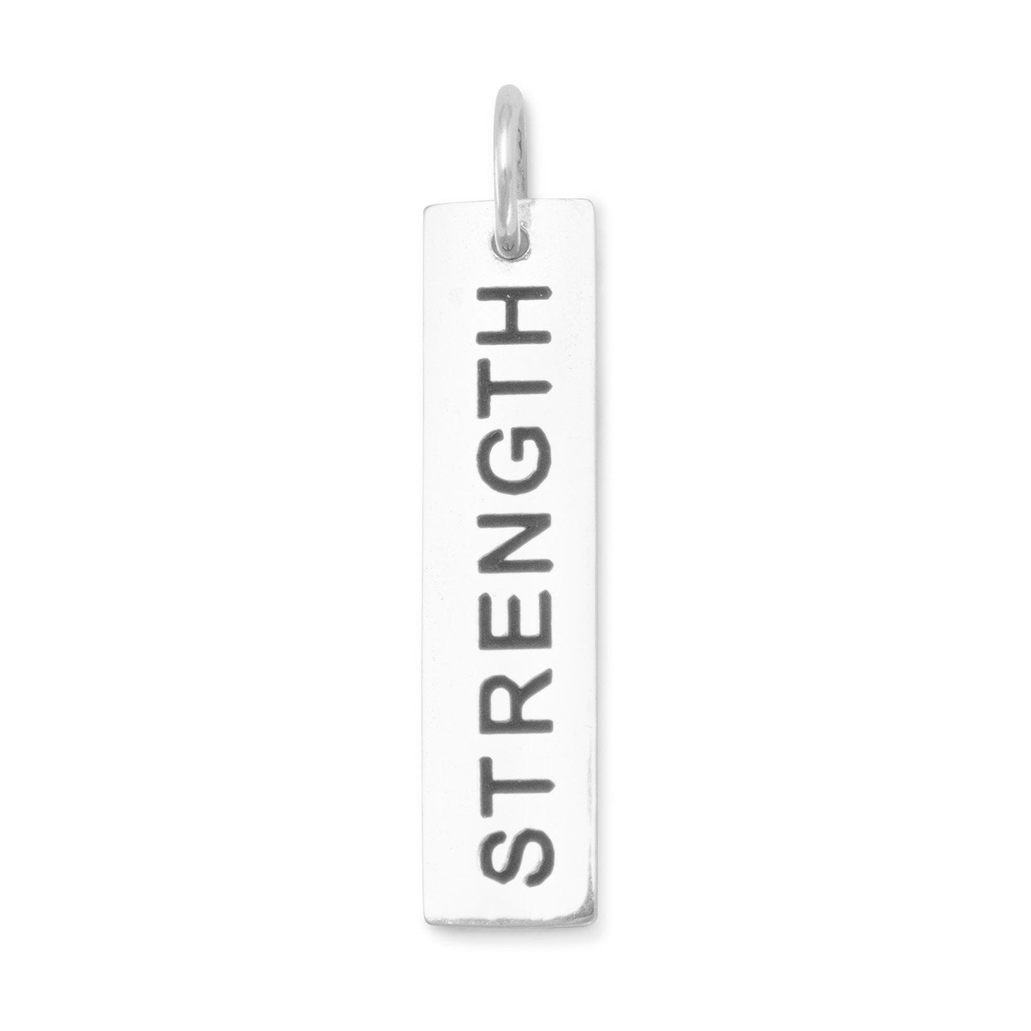 "Sterling silver ""Strength"" Charm"