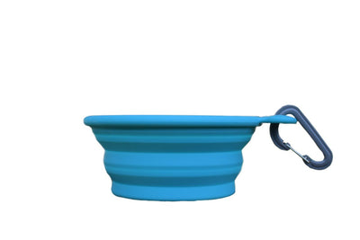 Collapsible Water Bowl Blue
