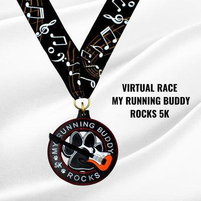 Virtual Race Medal_my running buddy rocks 5k