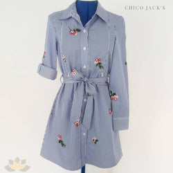 Chico Embroidered Shirt Dress