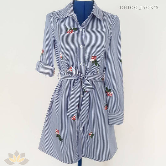 Chico Embroidered Shirt Dress - Chico Jack's