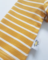 Twinning Sets - Short Sleeve Baby Tops - Mustard/White - Chico Jack's -  Mother and baby matching outfits