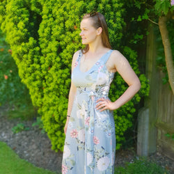 The Floral Breastfeeding Friendly Jumpsuit - Chico Jack's - Breastfeeding dresses for weddings