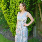 The Floral Breastfeeding Friendly Jumpsuit - Tall Version - Chico Jack's - Breastfeeding dresses for weddings