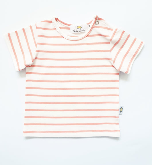 Chico Twinning - Baby Tops - Ecru/Coral - Chico Jack's