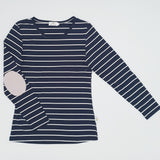 Twinning Sets - Mumma Nursing Top - Navy/White & Grey Pads - Chico Jack's - Mother and baby matching outfits
