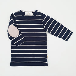 Twinning Sets - Baby Top - Navy/White & Grey Pads - Chico Jack's - Mother and baby matching outfits