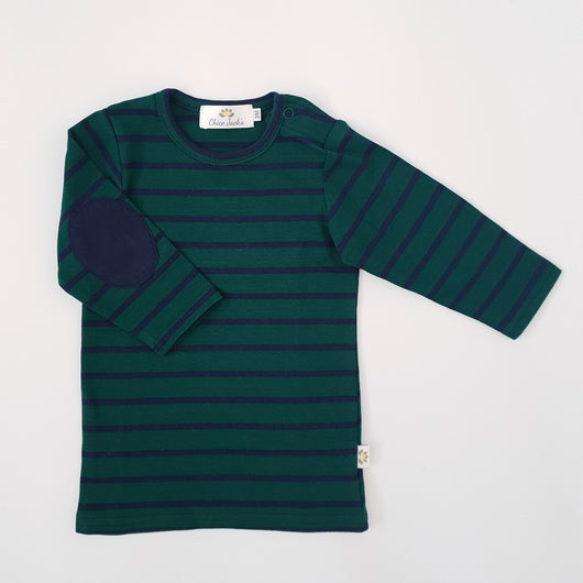Twinning Sets - Baby Top - Forest Green/Navy & Navy Pads - Chico Jack's - Mother and baby matching outfits