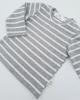 Twinning Sets - Long Sleeve Baby Tops - Grey/White - Chico Jack's - Mother and baby matching outfits