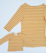 Twinning Sets - Mumma Nursing Top - Mustard/White - Chico Jack's - Mother and baby matching outfits