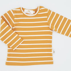 Twinning Sets - Long Sleeve Baby Tops - Mustard/White - Chico Jack's - Mother and baby matching outfits