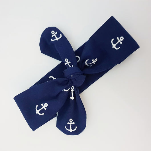 Anchors - Knot Tie Headbands - Baby/Child - Chico Jack's