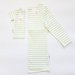 Twinning Sets - Mumma Nursing Top - Ecru/Mint - Chico Jack's - Mother and baby matching outfits