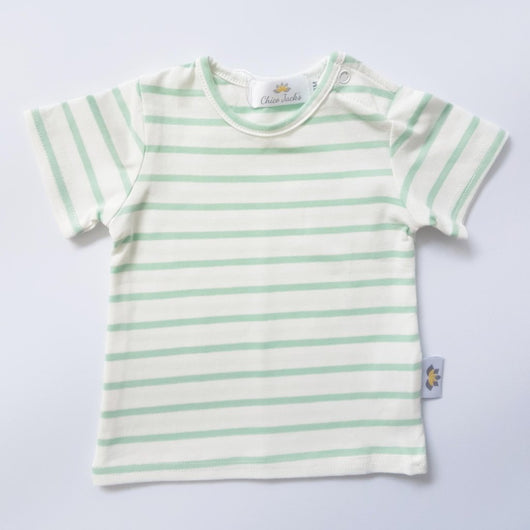 Twinning Sets - Baby Top - Ecru/Mint - Chico Jack's - Mother and baby matching outfits