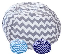 Stuffed Animals Storage - Chevron Print Bean Bag Chair