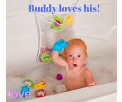 Lilly's Love Bath Toy Organizer with Foam Letters