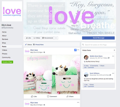 Lilly's Love Facebook - stay connected