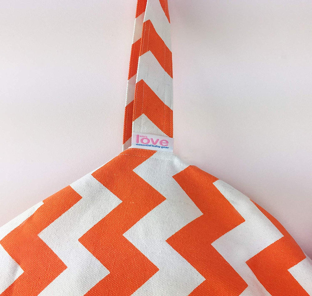 Stuffed Animal Storage Chair - Trendy Chevron in Orange