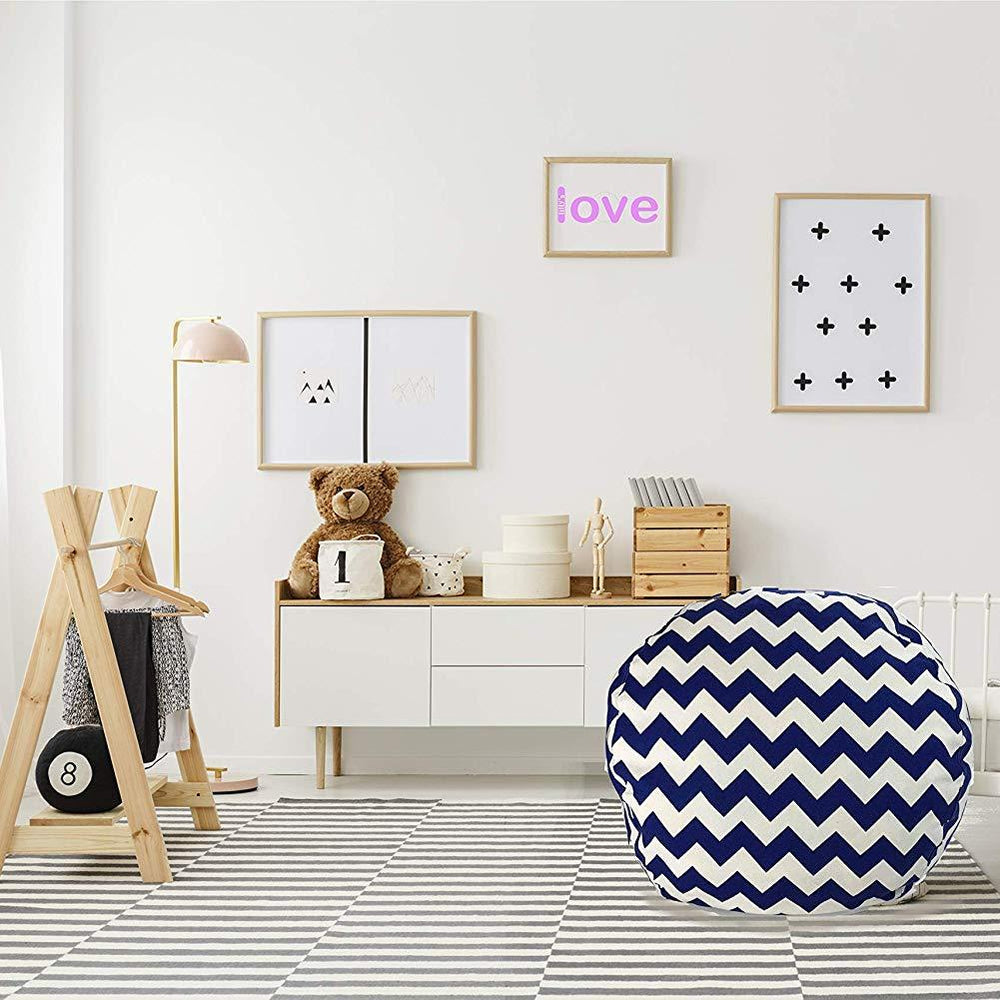 Stuffed Animal Storage Chair - Trendy Chevron in Navy