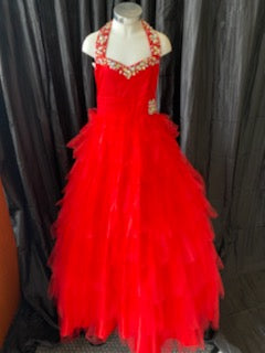 Tiffany Red Pageant Dress