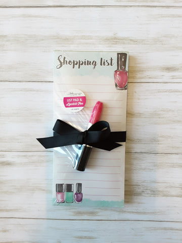 Shopping List Notepad & Pen Set