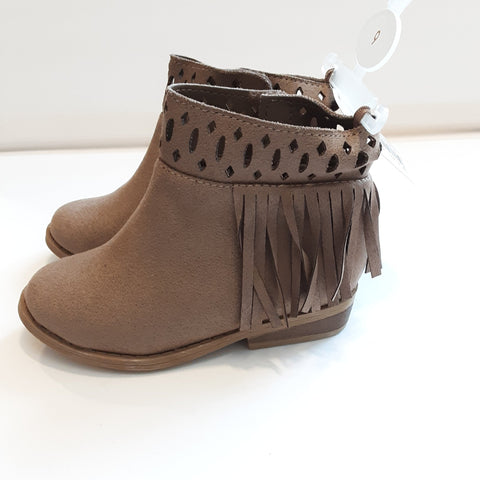 Baby Deer Suede Cloth Ankle Bootie
