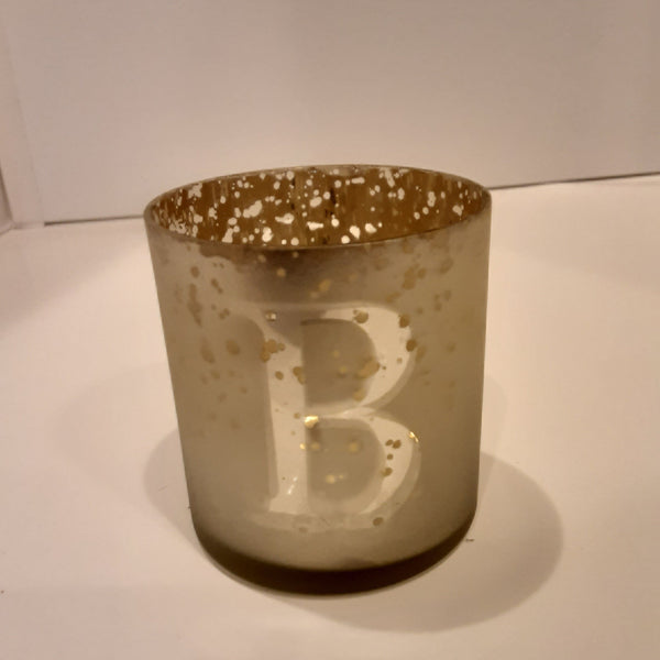 Initial Votive Candle Holder