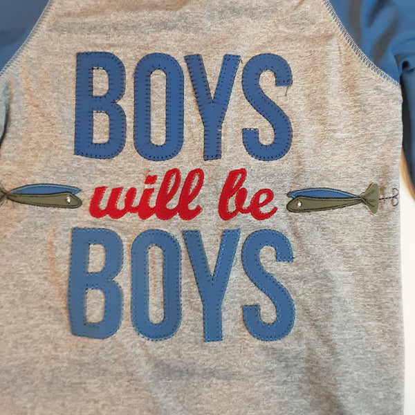 Boys Will Be Boys UPF50 Rash Guard Swim Shirt