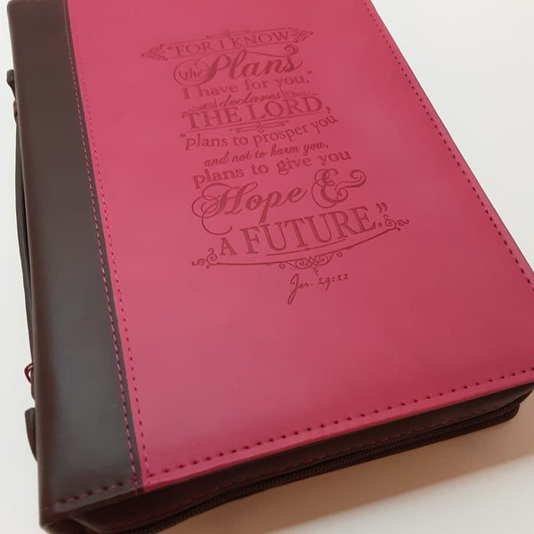 Pink I Know The Plans...Bible Cover