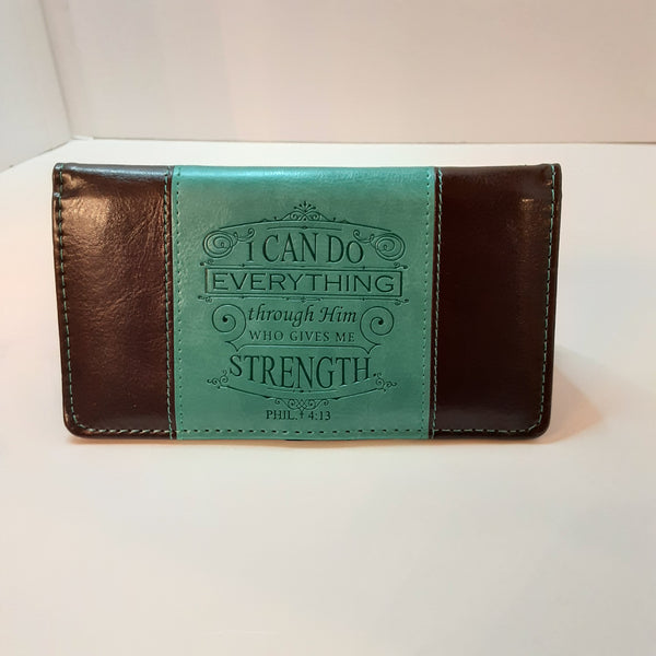 Teal Checkbook Cover