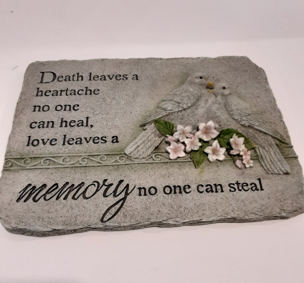 Memorial  stone Death leaves a memory