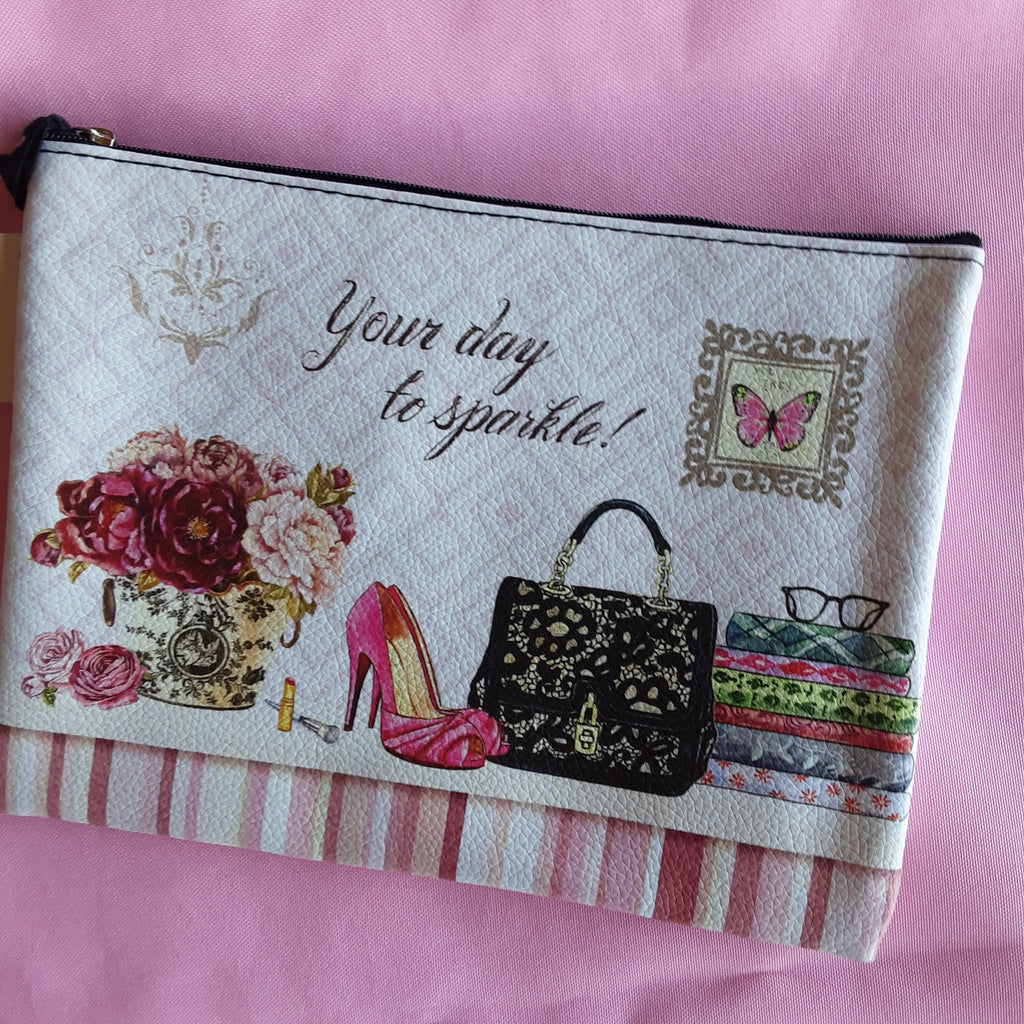 Your Day to Sparkle Cosmetic  Bag