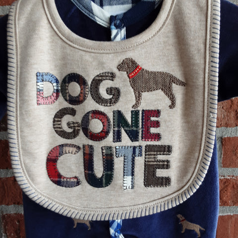 Dog Gone Cute Appliqued  Bib