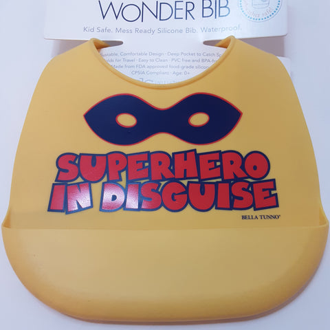 Superhero in Disguise Waterproof Silicon Bib