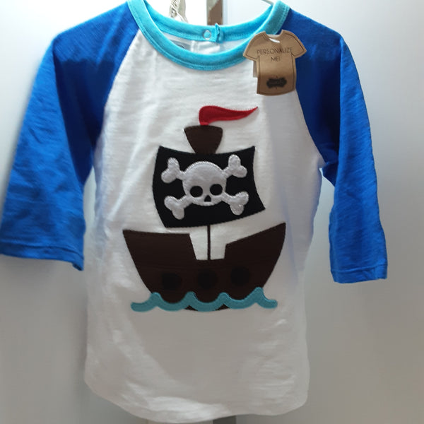 Pirate Ship Raglan Tshirt