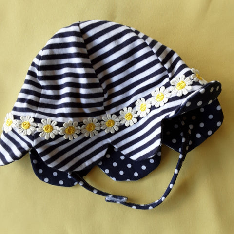 Stripes Dots & Posies Sun Hat