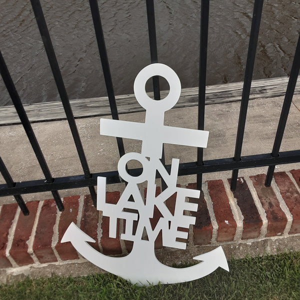 On Lake Time Anchor Decor