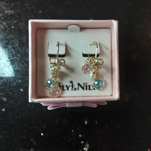 Girls Pastel Multicolored Dangle Earrings