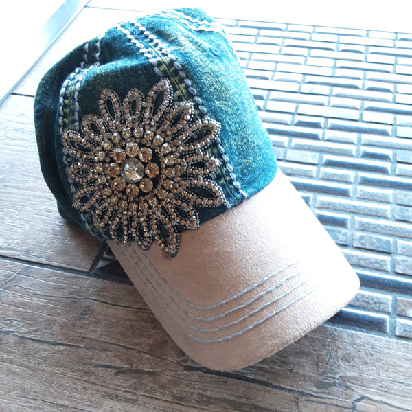 Denim Bling Cap