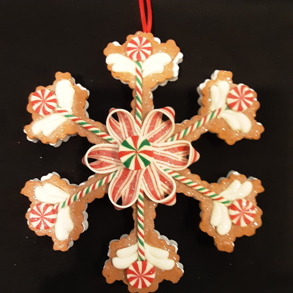 Gingerbread Snowflake Ornament