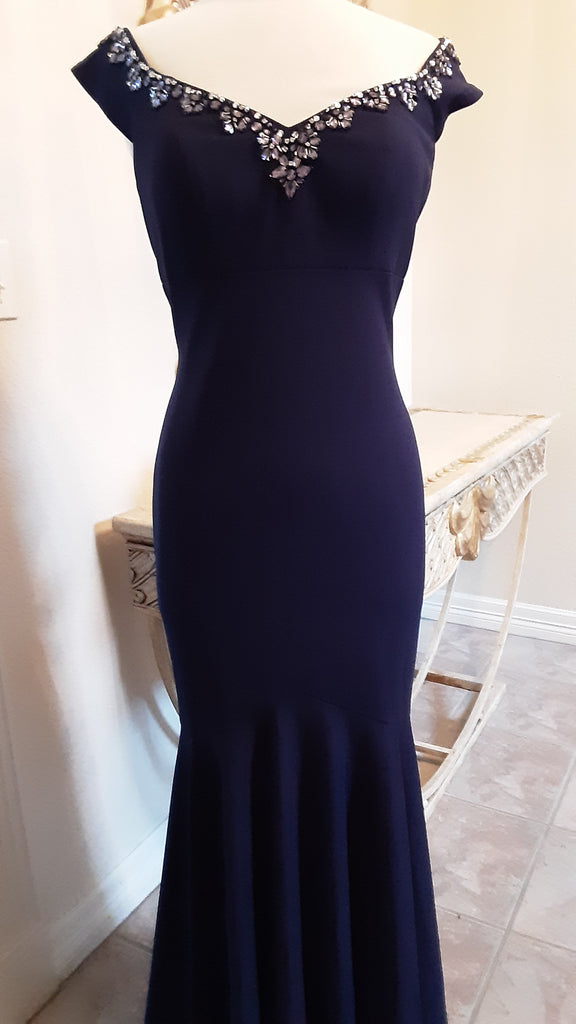 Navy Fitted Gown