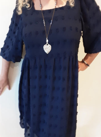 Navy Toneal Dot Dress