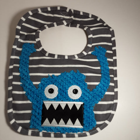 Monster Bib with velcro closure