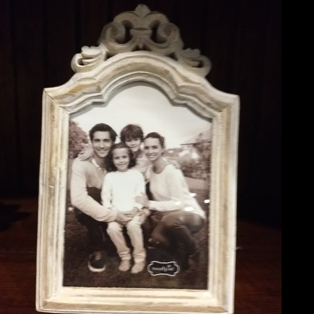 White washed picture frame