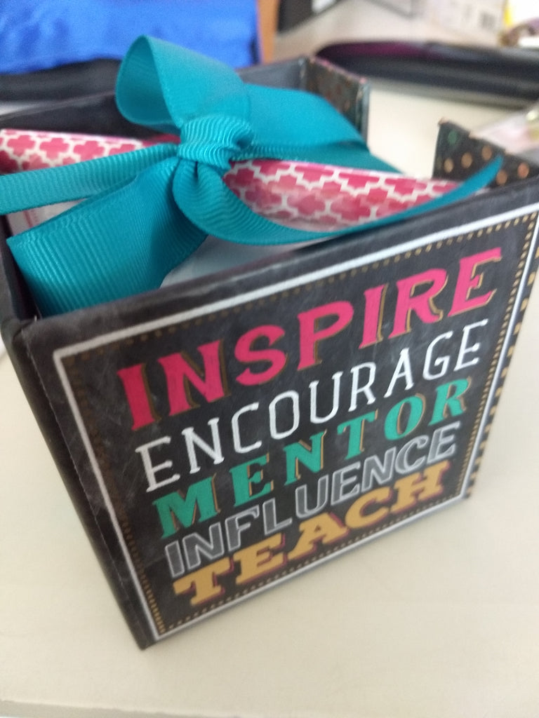 Inspire, Encourage, Mentor, Influence, Teach Note Cube & Pen
